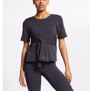 Nike Studio Dri-Fit Short Sleeve Yoga Tie Top